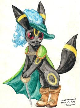 Athos is an Umbreon by Asio-arald