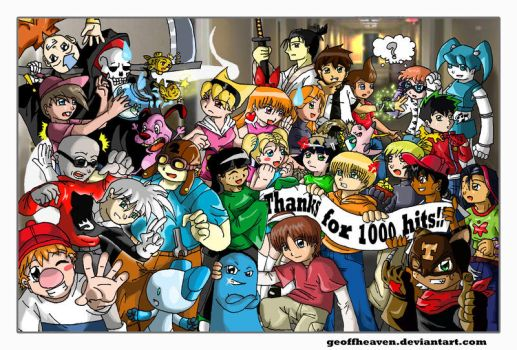 1000 Hits - Next Gen Cartoons by geoffHeaven