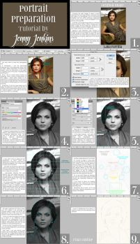 Portrait Preparation Tutorial by thewholehorizon
