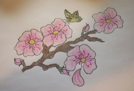 Cherry Blossoms for Tattoo by pantherwitch4982
