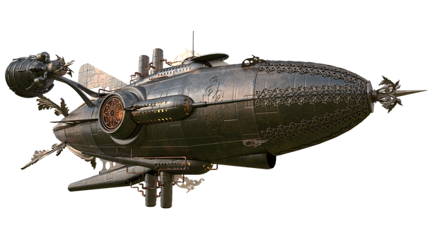 Steampunk Airship5  by coolzero2a
