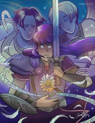 The Sword and the Flower by TheDelphina