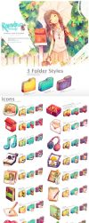 Summer, Love +Cicadas Icon Set by Raindropmemory