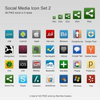 Free 28 Social Media Icons Set #2 by coloradodev