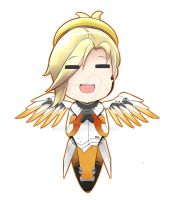Mercy Overwatch Chibi by aplocads