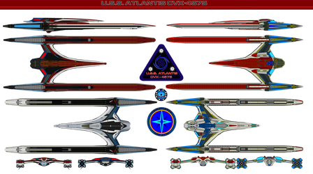 USS Atlantis CVX-4575  New an Old by bagera3005