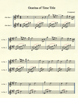 Ocarina of Time Title for Atlo Sax by MrConan42