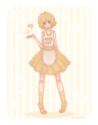 Human Chica + Speed paint by tea-hee