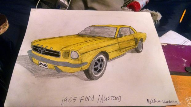 1965 Ford Mustang Hardtop by WheelchairArtist28