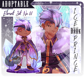 [ CLOSED ] Adoptable Element Set No.01 (Ice) by HalfChe