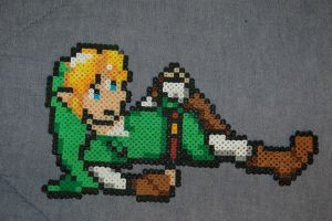 Reclining Link Perler by evilpika