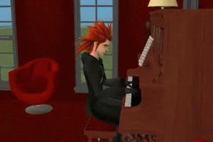 Axel Playing Piano by AncientWisemon