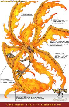 L'Pokedex 146 - Moltres FR by Pokemon-FR