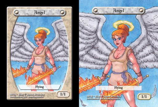 Custom Magic Token #1 - Angel by JasonRocket