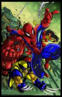 Spiderman and friends Colors by nfteixeira