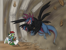 Hydreigon Vs Gardevoir by The-Clockwork-Crow