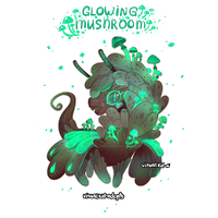 [CLOSED] Adopt auction - Glowing mushroom dragon by visualkid-adopts