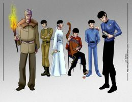 Spock Through the Ages by TheDyeIsCast