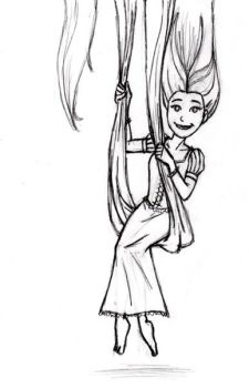 X-mas gift sketch: Rapunzel by BloodyWilliam