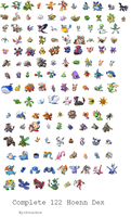 Complete Hoenn Pokedex by xvinchox12