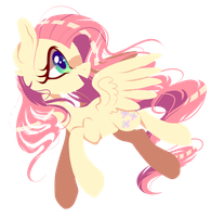 Paper fluttershy by PeachesAndCreamated