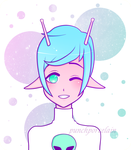 Alien Babe by PunchPorcelain