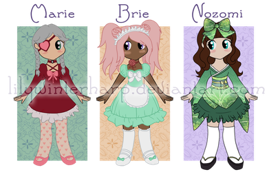 Gothic Lolita Adoptables - [OPEN AUCTION] by LilyWinterharp