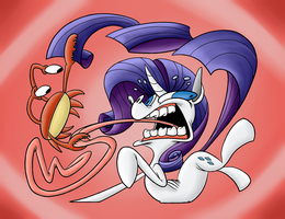 Rarity VS Crab: Battle of the Century by NocturnalMeteor
