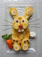 French Toast Easter Bunny by Kitteh-Pawz