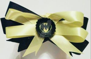 Batman black and yellow headband by wolf-girl87