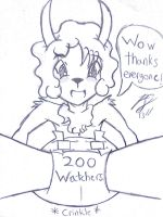 Over 200 watchers!!!! :D Thanks everyone! by Pampered-sheep