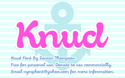 Knud Script Font by nymphont