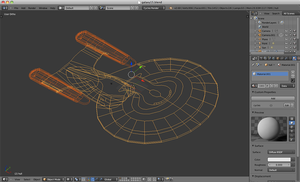 3d Enterprise-D WIP 2 by AdamTSC