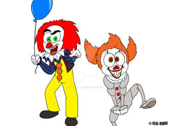JHH 2018 - Dark Wizard and Penny Doodle as Clowns by JIMENOPOLIX