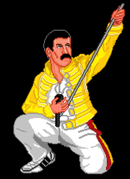 Freddie Mercury- NES Version by general-abe
