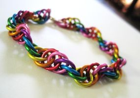 Rainbow DNA Chainmaille by Melon-love