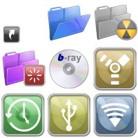 Glossy Iconset v2 for Mac by artful-xtra