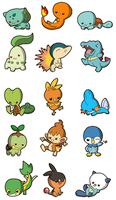 Pokemon Starters by Primmly