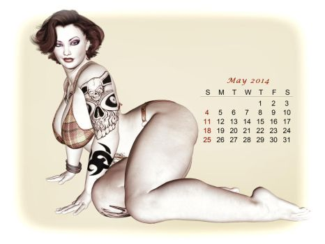 Pinup Number Twenty-Six: Calendar Girl (May) by wcpelon