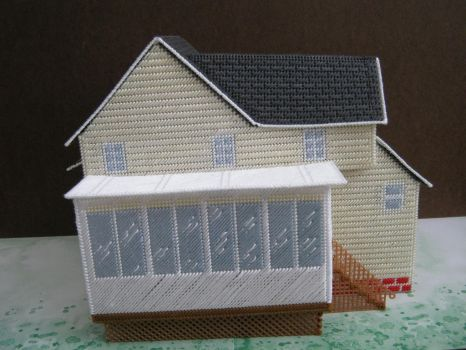 Plastic Canvas Tissue Box House (Back side) by Ladybug-creations