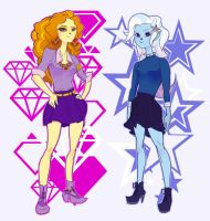 Adagio Dazzle and Trixie by catharticaagh