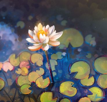 Waterlily by Aenami