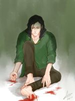 Loki crying by KanuLover