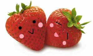 Cute strawberries by Luna-clover