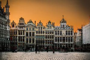 The golden town in the golden hour by jeebchym