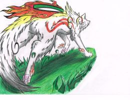 Bring life to my paper, Amaterasu! by Kichougull