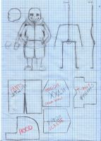 Sans Posable Doll SKETCHES AND TEMPLATES by Zhamka