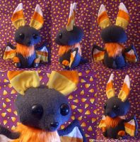Candycorn Bat Plush by GrowlyLobita