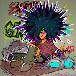 Street Urchin by Rosemary-the-Skunk