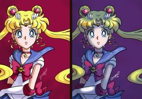 Sailor Moon doodles by chibi-jen-hen